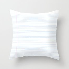 Fun Geeky Writers Gift: College Ruled Rules Pattern Throw Pillow