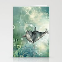 dolphin Stationery Cards featuring Dolphin by nicky2342