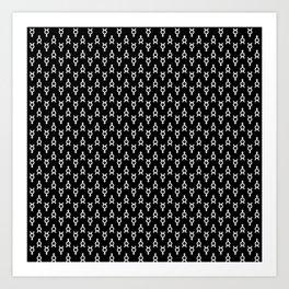 Mercury Noir Pattern Art Print