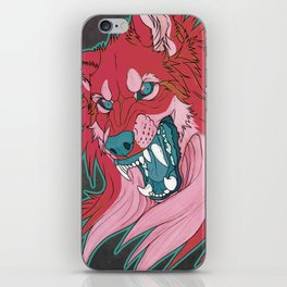Ravewolf -Teal and Berry iPhone Skin