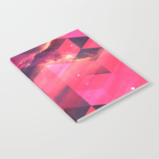 Geometrical pink shapes Notebook