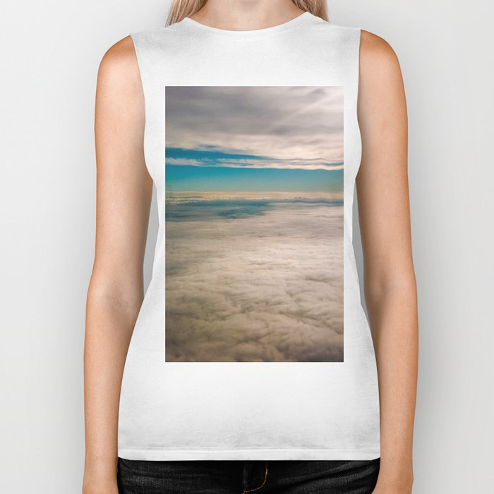 More then clouds Biker Tank