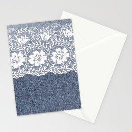 Denim & Lace 1 Stationery Cards