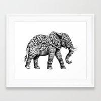 ornate elephant Framed Art Prints featuring Ornate Elephant 3.0 by BIOWORKZ