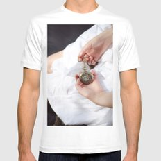 Clouds 3 White MEDIUM Mens Fitted Tee