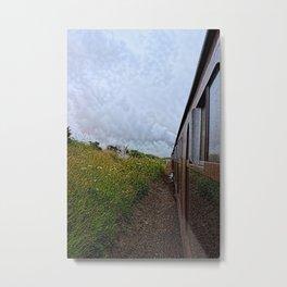 Steam train coach reflection Metal Print