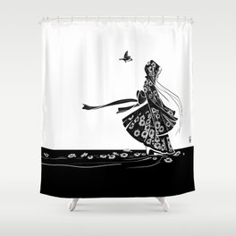 Daisy Girl Shower Curtain