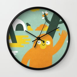 Mango Hunter Wall Clock