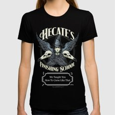 Hecate's Finishing School Black X-LARGE Womens Fitted Tee