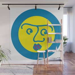 Colored Wondering Face 1 Wall Mural