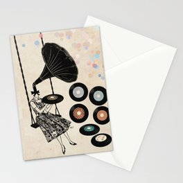 Music Player   Stationery Cards