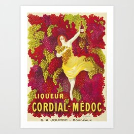 Vintage Italian Cordial Médoc Advertisement Poster by Leonetto Cappiello Art Print