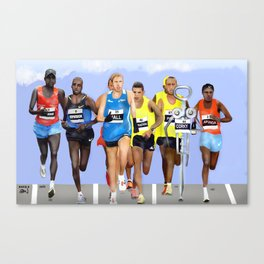 Corky in a Marathon Canvas Print