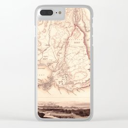 Map Of Sicily 1839 Clear iPhone Case