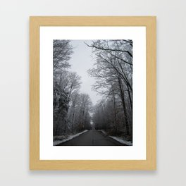 Take the long road and walk it Framed Art Print