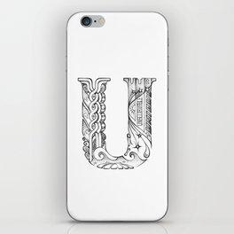 U letter iPhone Skin