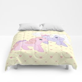 g1 my little pony babies Cotton Candy and Blossom Comforters