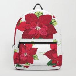 Christmas Poinsettia Backpack