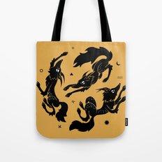 Dancing wolves Tote Bag