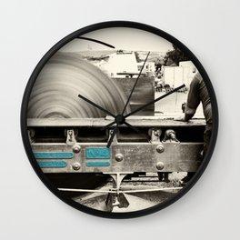 Stenner Saw Bench Wall Clock