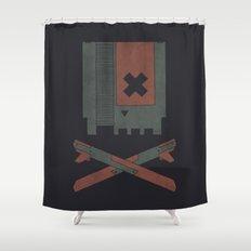 The Nes Skull Shower Curtain