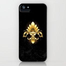 Golden Fleur de Lis iPhone Case
