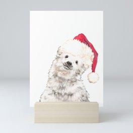 Christmas Baby Polar Bear Mini Art Print