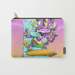 Surfing Tiki Man Carry-All Pouch