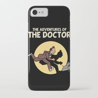 tintin iPhone & iPod Cases featuring The Adventures Of The Doctor by Deborah Picher Illustrations