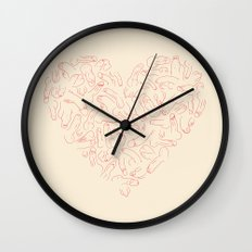 Penis Heart Wall Clock
