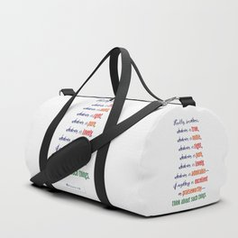 Think About Such Things . . . Duffle Bag