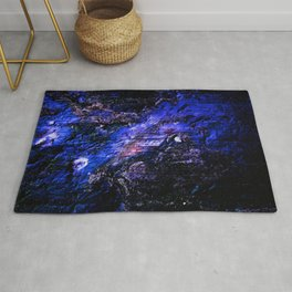Deep Blue Textured Mineral Rug