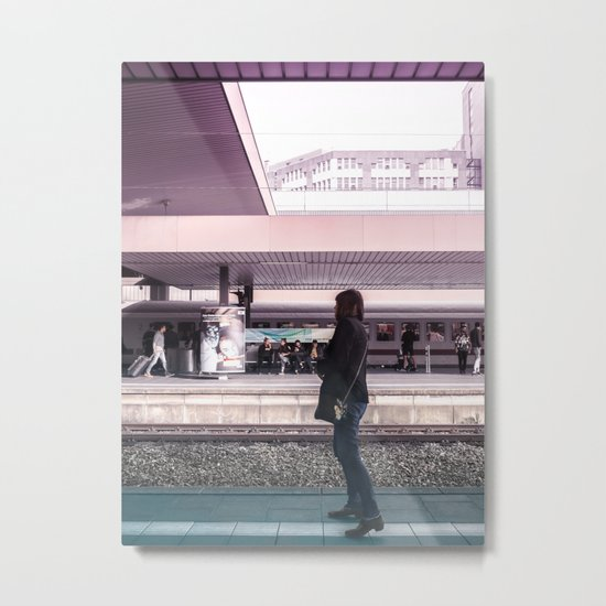 Travel Train Station Metal Print