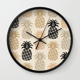 Retro Mid Century Modern Pineapple Pattern 77 Wall Clock