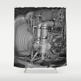 F-1 Engine for the Saturn V S-IC Shower Curtain