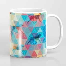 WEIMARANER AND TRIANGLES Coffee Mug