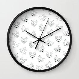 Fox geometry Wall Clock