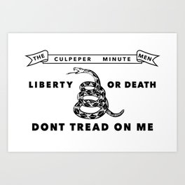 Historic Culpeper Minutemen flag Art Print