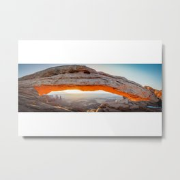 Mesa Arch Sunrise Canyonlands National Park Utah Panoramic Arches Landscape Metal Print
