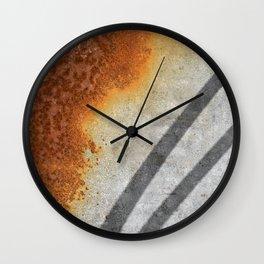 Rust Abstract I Wall Clock