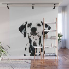 Dalmatian dog watercolour Wall Mural