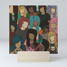 2000s Scene Kids Pattern Mini Art Print