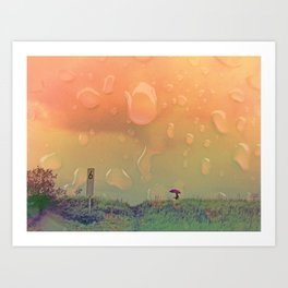 Rain in September Art Print