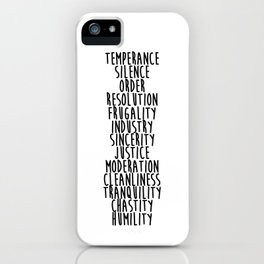 13 Virtues iPhone Case