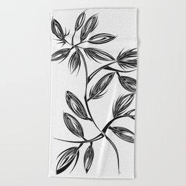 Flower Buds Beach Towel