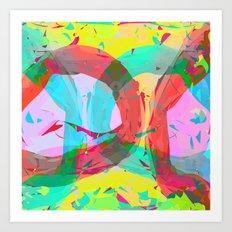 pastel color rings  Art Print