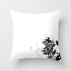 Datadoodle Flowers B/W Throw Pillow