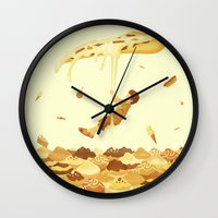 food Wall Clocks featuring Food by Alendro