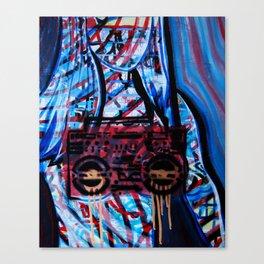 Boob Box Blue Canvas Print