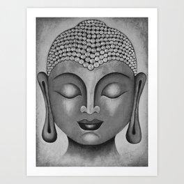 Grey Buddha 5 Art Print